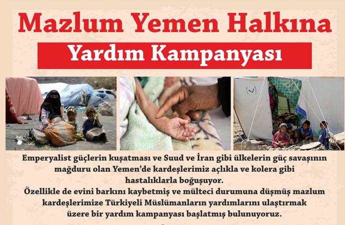 Yemen Dayanışma Platformu'ndan yardım kampanyası