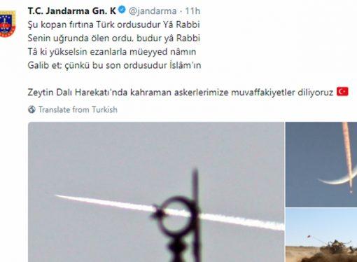 Jandarma Genel Komutanlığından 'İslam'ın son ordusu' mesajı