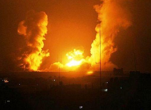 İsrail Gazze'ye bir dizi hava saldırısı düzenledi, 18 noktayı vurdu