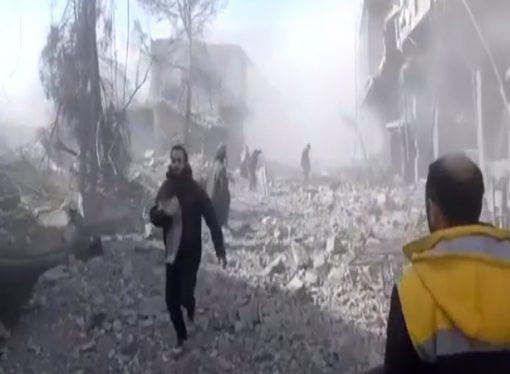 Suriye rejim güçleri sivilleri bombalamaya devam ediyor