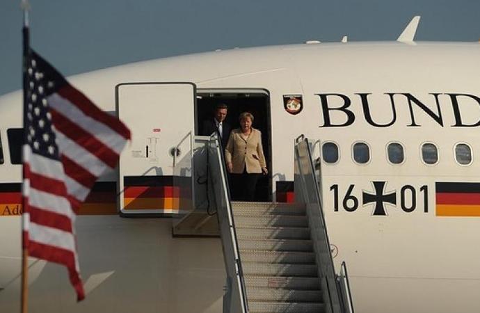 Almanya Başbakanı da Amerika'ya gitti