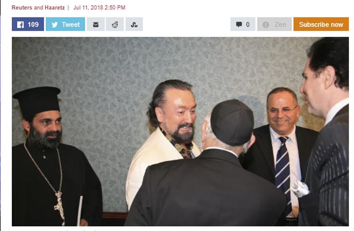 İsrail basını Adnan Oktar haberini nasıl verdi?