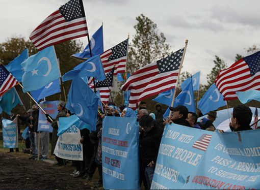 Uygurlar Çin'i Washington'da protesto etti