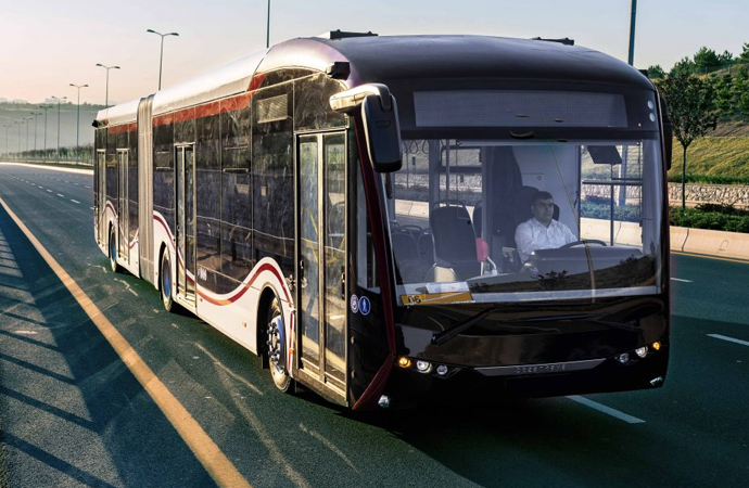 Elektrikli otobüsle test sürüşü
