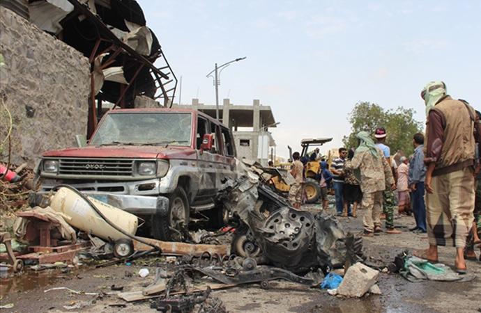 Yemen'de 'sığınma merkezi'ne saldırı