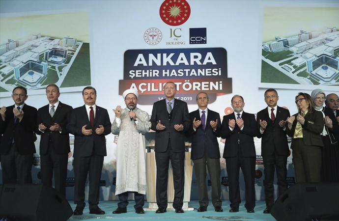 Bilkent Şehir Hastanesi dualarla açıldı