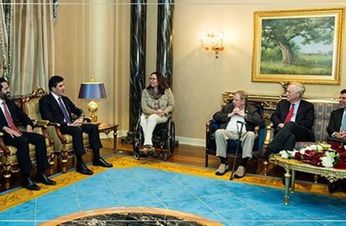 Amerikan heyeti Erbil'de Başbakan Barzani ile görüştü