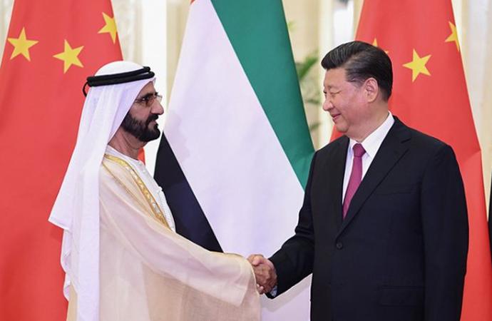 Çin Cumhurbaşkanı, BAE Başbakanı ile görüştü
