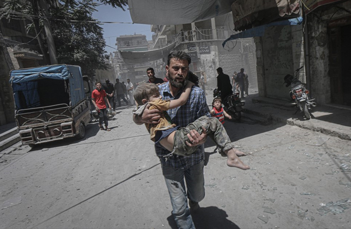 Esed rejimi hiç durmadan saldırıyor