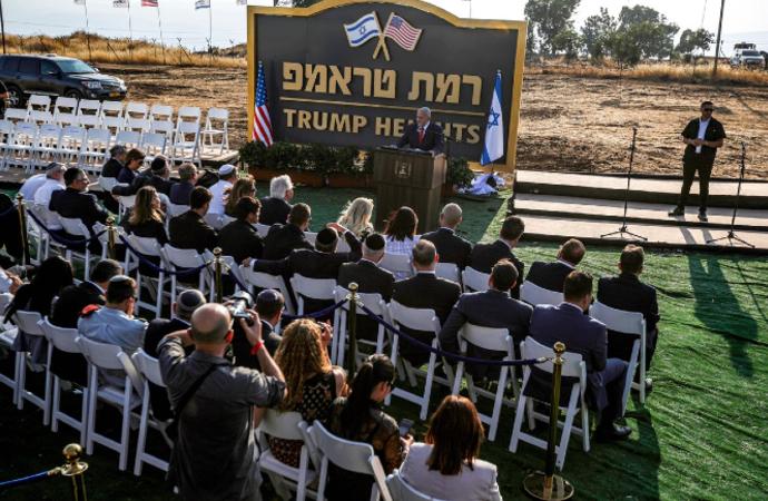 Golan Tepeleri'ndeki Yahudi yerleşim yerine 'Trump' adı verildi
