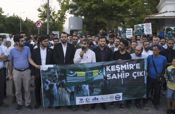 Hindistan Büyükelçiliği önünde protesto eylemi