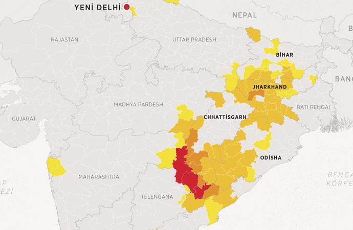 Hindistan'da Maocu isyanda 20 yılda 14 bin kişi öldü