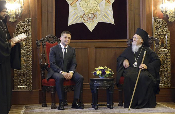 Zelenskiy ile Patrik 'basına kapalı' görüştü