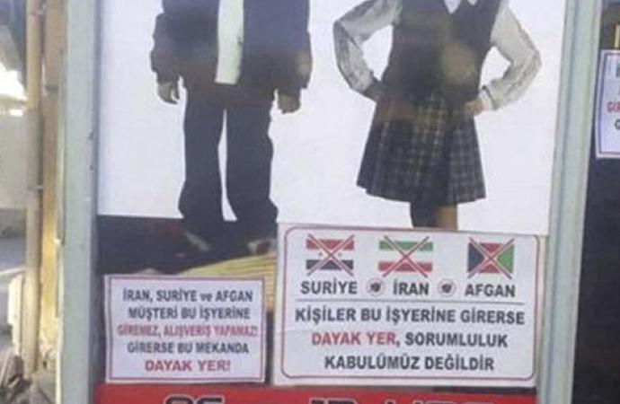 """""""Suriyeli giremez"""" yazısına ceza kesildi"""