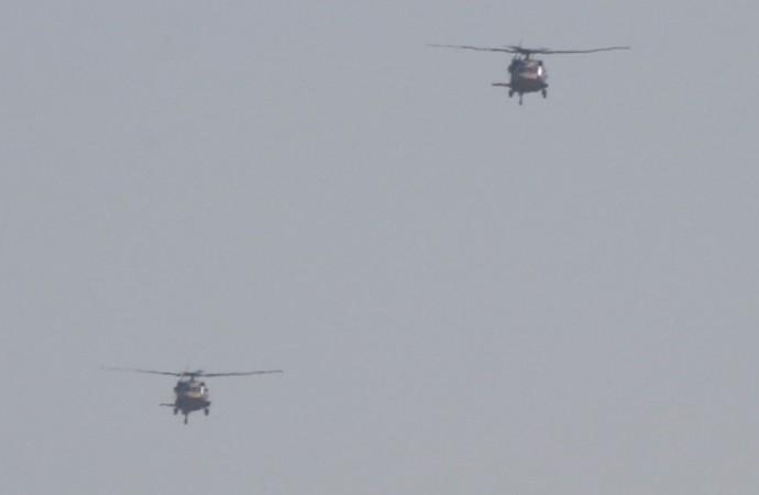Fırat'ın doğusunda ABD ile 3. helikopter uçuşu