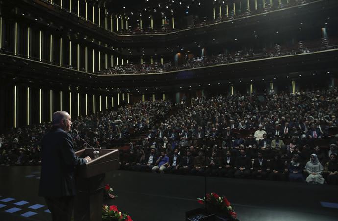 Erdoğan, Ankara İlahiyat'ın kutlama töreninde konuştu