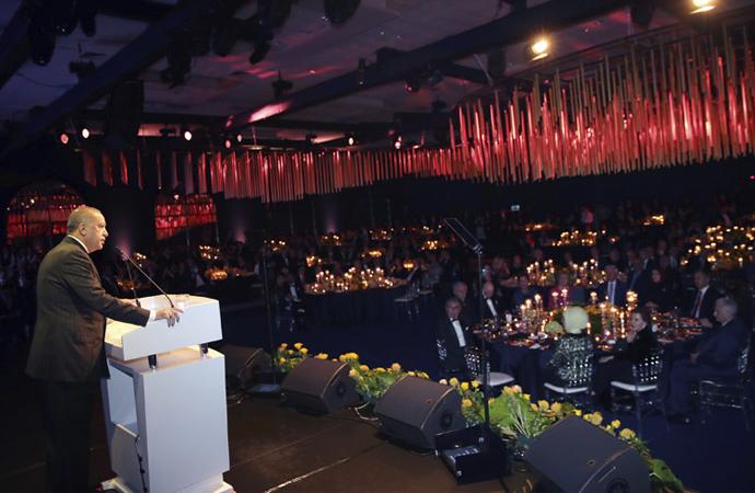 Cumhurbaşkanı Erdoğan, Doğan Grubu'nun gala gecesinde