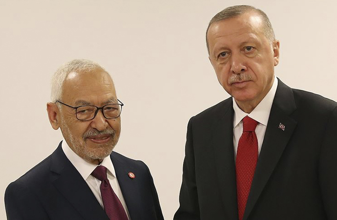 Erdoğan, Raşid el-Gannuşi'yi kabul etti