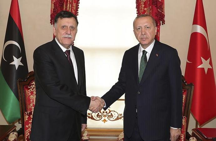 Cumhurbaşkanı Erdoğan, Fayiz es Serrac'ı kabul etti