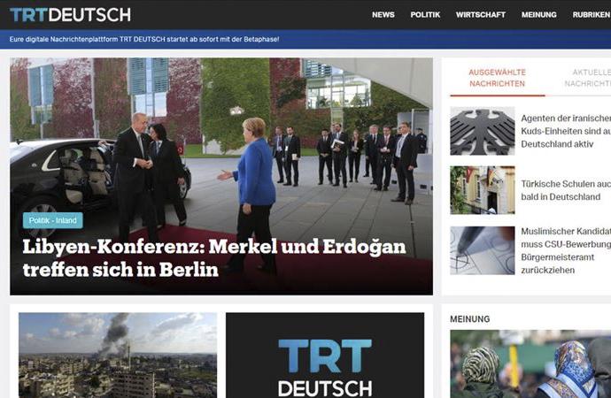 TRT'den Almanca haber sitesi