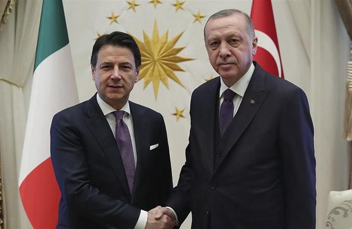 Cumhurbaşkanı Erdoğan, İtalya Başbakanı Conte görüşmesi