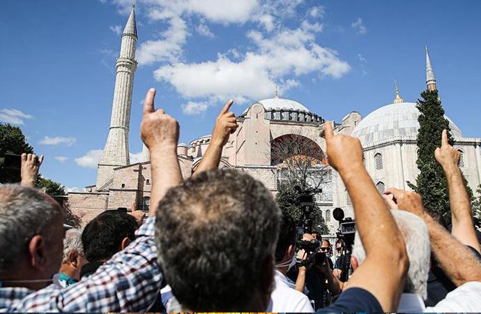 Danıştay'ın 'Ayasofya' kararını halk coşkuyla karşıladı