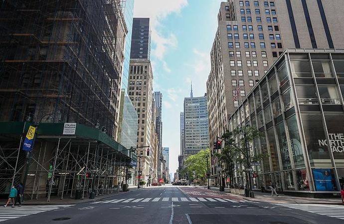 New York'ta ofislerde çalışma oranı yüzde 10'un altında kaldı