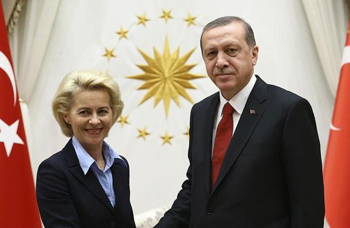 Erdoğan ile AB Komisyonu Başkanı von der Leyen görüşmesi