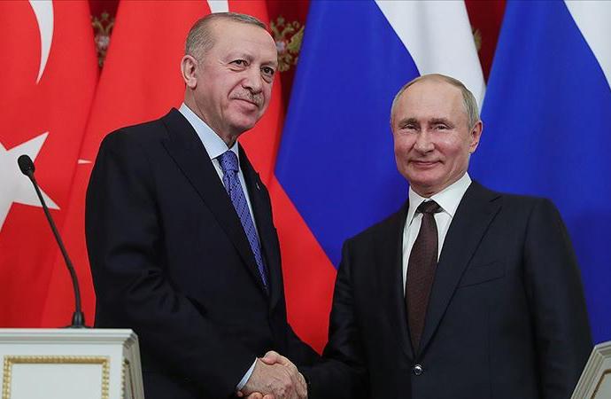 Erdoğan ve Putin arasında telefon görüşmesi