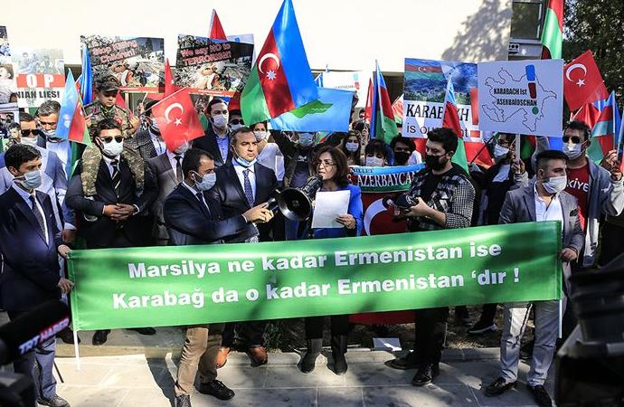 Fransa'nın Karabağ ile ilgili tutumu Ankara'da protesto edildi