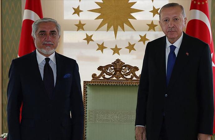 Erdoğan, Afganistan Milli Uzlaşı Yüksek Konseyi Başkanı Abdullah'ı kabul etti