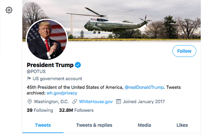 Twitter, POTUS hesabını Biden'a devredeceğini duyurdu