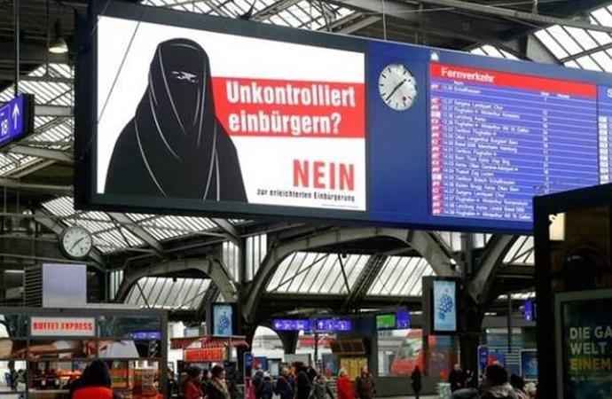 İsviçre'deki Müslümanlara yapılan ayrımcılık ile mücadelede için…