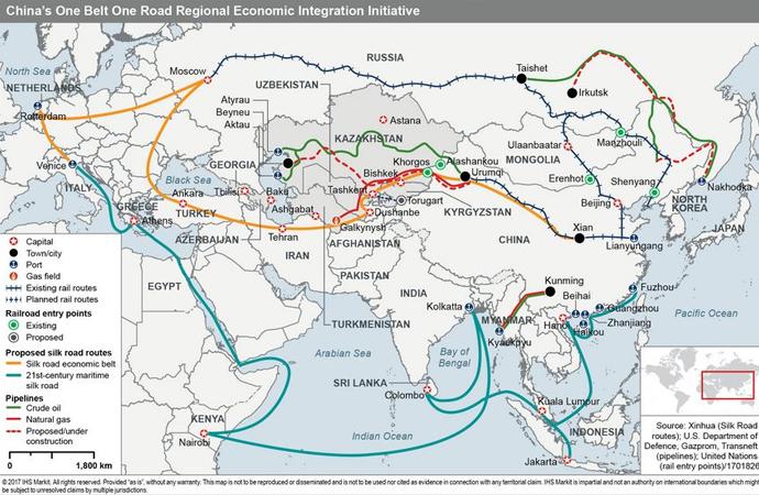 'Bir Kuşak Bir Yol Projesi' nedir? Projeye dahil 65 ülke hangileri?