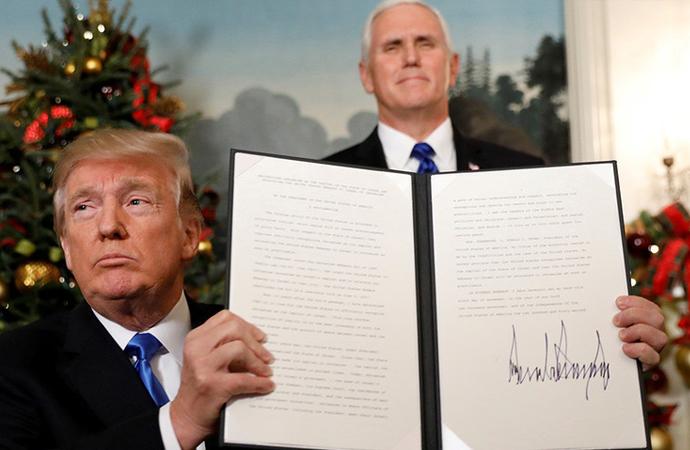 İmzanın devamı geldi! ABD Büyükelçiliğini Kudüs'e taşıma tarihini açıkladı