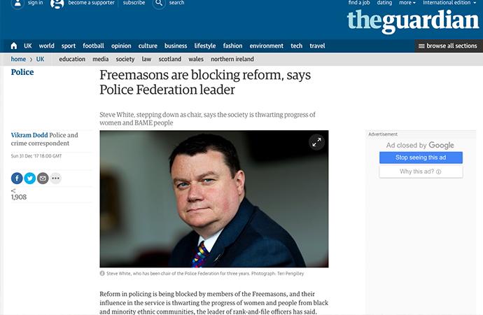 İngiltere'de Polis müdürü Masonları suçladı