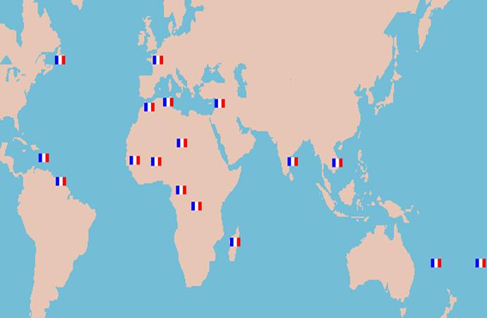 Fransa'nın kolonileştirdiği ülkelerin listesi