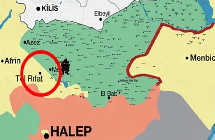 Türk Silahlı Kuvvetleri ile ÖSO, Afrin bölgesini 3 taraftan kuşattı