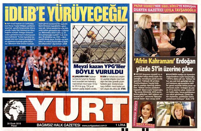 """CHP'li Özbolat'ıngazetesi: """"Erdoğan yüzde 51'in üzerine çıkar"""""""