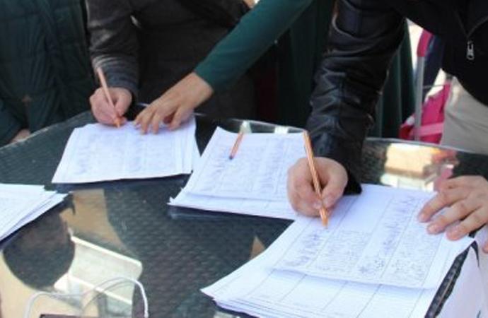 İmza kampanyaları ve atılan imzalar…