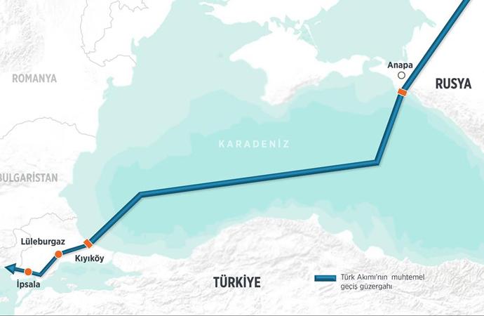 Türk Akımı yarı yolu geçti