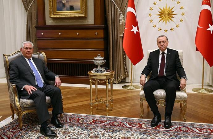 Tillerson-Erdoğan görüşmesi 3 saat 15 dakika sürdü