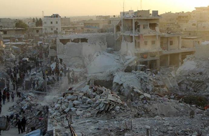 Doğu Guta'da rejim uçaklarının saldırıları devam etti