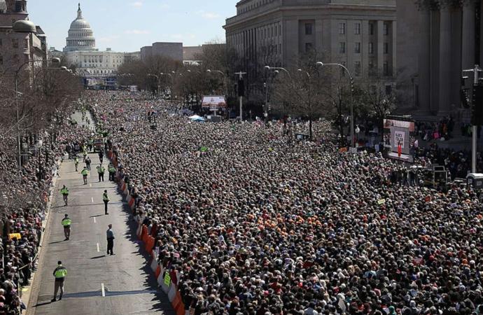 Amerika'nın Başkentinde 'Silah Lobisi'ne karşı büyük eylem
