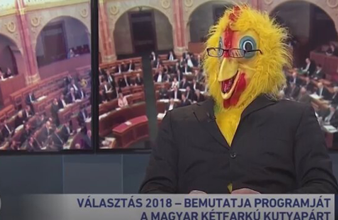 """Macaristan'da bir Parti'nin""""Gıdaklayan Seçim konuşması"""""""