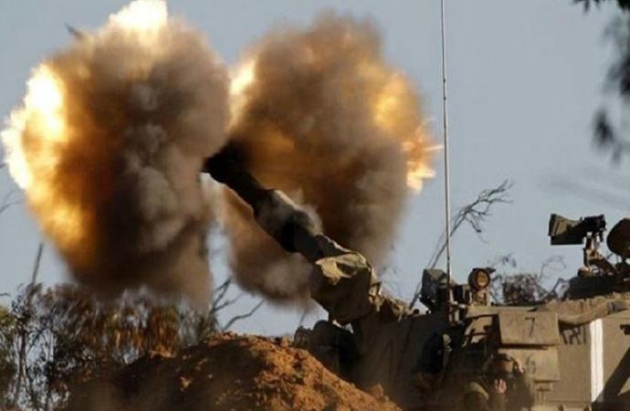 İsrail Gazze'nin doğu kısımlarını top ateşine tuttu