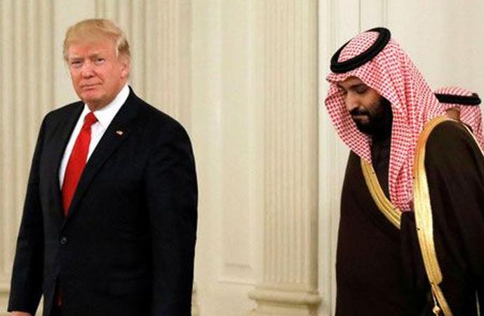 Trump, Suudi Prensi Oval Ofis'te ağırladı
