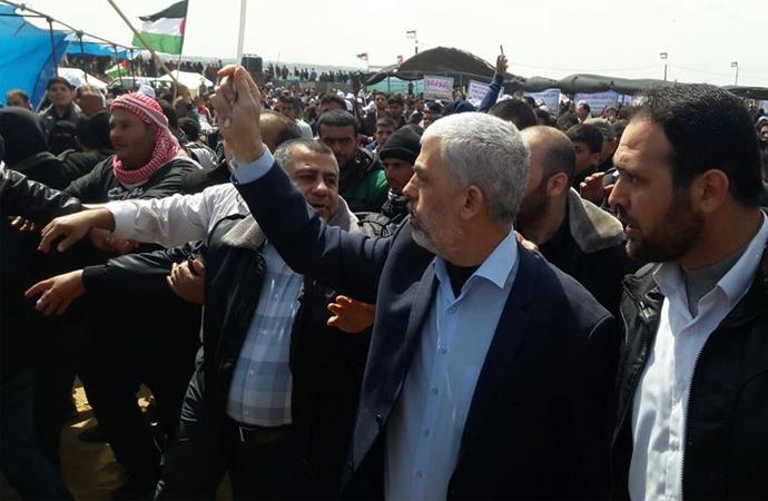 Binlerce Filistinlinin katıldığı Büyük Dönüş Yürüyüşü yapıldı