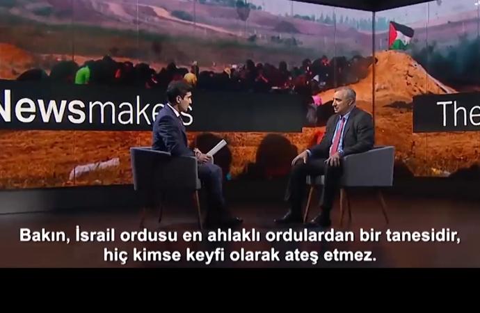 İsrail büyükelçisine TRT yayınında zor soru