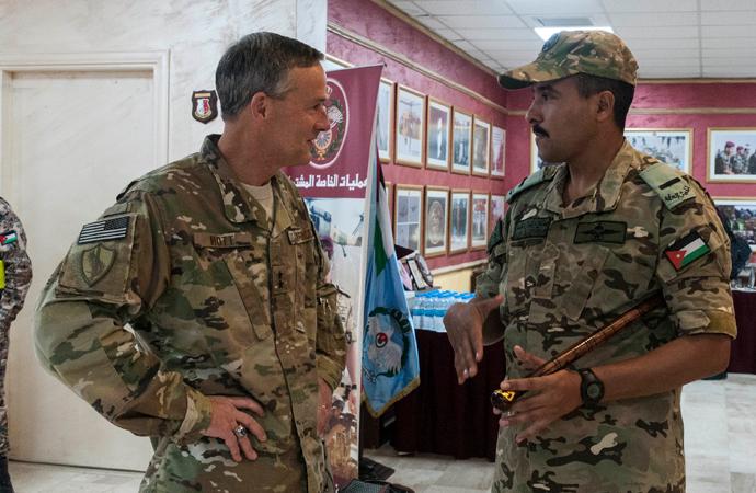 Riyad'da Amerikan kuvvetleri ile askeri toplantı